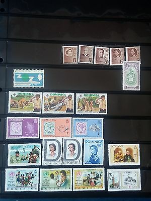 K238. DOMINICA. LOT TIMBRES NEUFS mnh. 5 PAGES