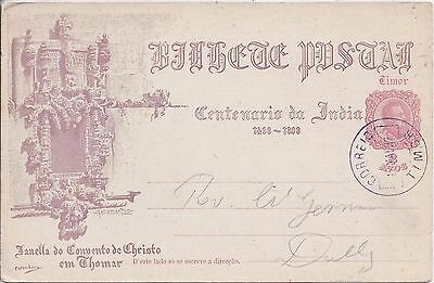 Timor 1893 2a picture postal stationery card cto used