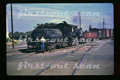 DUPLICATE SLIDE - Union Pacific UP LA&SL 6007 STEAM Action on Local Freight