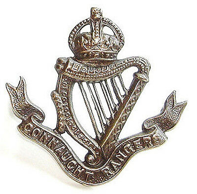 Ww1 The Connaught Rangers Cap Badge Solid Silver