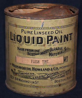 Original Vintage Wadsworth, Howland & Co Paint Can Tin
