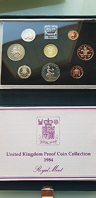 1984 Proof Coin Set ,slight Toning To Some Of Coins ,see Pictures