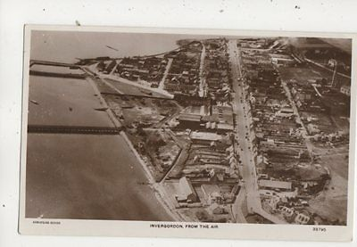 Invergordon From The Air Ross-shire Vintage Aerial View RP Postcard