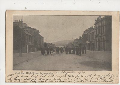 West End High Street Invergordon Ross-shiore 1904 Postcard