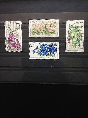 Ireland, High Value Issued Stamps From The Flower Set Fine Used