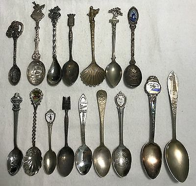 LOT of (16) Vintage Silverplate Souvenir Spoons