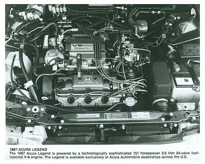 1987 Acura Legend Engine Automobile Factory Photo ch5748