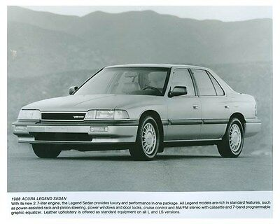1988 Acura Legend Sedan Automobile Factory Photo ch5725