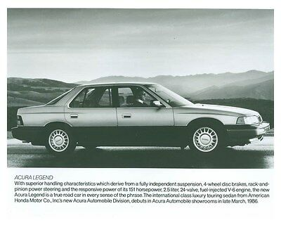 1986 Acura Legend Automobile Factory Photo ch5713