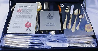 SBS BESTECKE SOLINGEN 70 Piece 23/24 Carat Gold Plated Set in Fitted Case