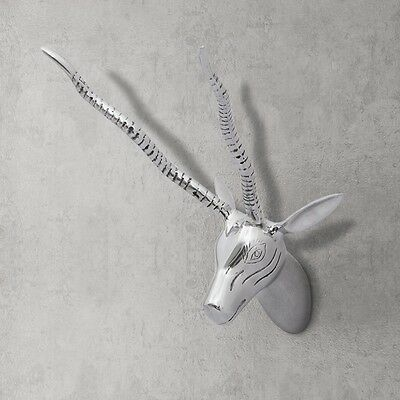 #Wall Mounted Aluminium Deer Stag Head Antlers Art Hanging Decoration Home Decor
