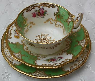 Coalport Batwing Apple Green Trio Cup Saucer Side Plate Y2665