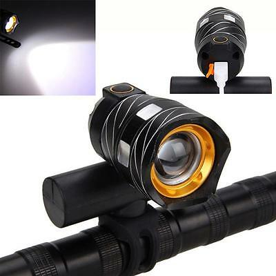 Newest USB Rechargeable XML T6 LED Bicycle Light Front Cycling Light Head lamp