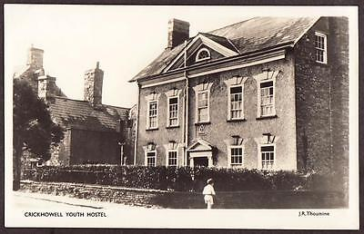 REAL PHOTO POSTCARD CRICKHOWELL YOUTH HOSTEL BRECONSHIRE WALES c1950