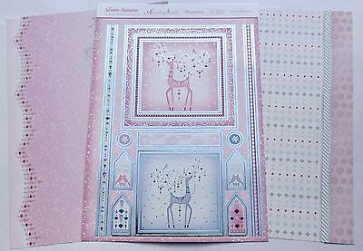 Hunkydory 3 A4 Sheet Foiled & Die Cut Prancer & Dancer Xmas Toppers & Paper Kit