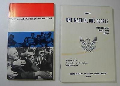 "1964 Democratic Platform Book ""One Nation, One People"" & Campaign Manual"