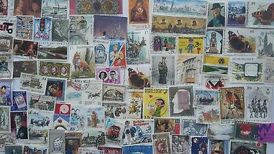 500 Different Belgium Stamp Collection - LARGE STAMPS