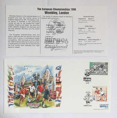 First Day Cover London Euro 1996 England Wembley Football