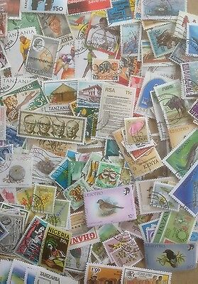 300 Different British Africa Stamp Collection