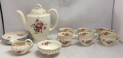 Vintage BURLEIGH WARE Burgess & Leigh 14 Piece Coffee Set  - T20