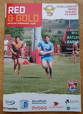 Sheffield Eagles Vs Hull Kingston Rovers 25/06/2017 Rugby League Programme