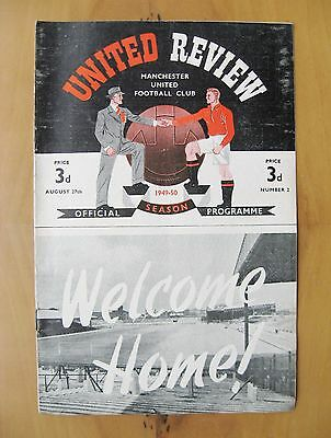 MANCHESTER UNITED v WEST BROMWICH ALBION 1949/1950 *Exc Cond Football Programme*