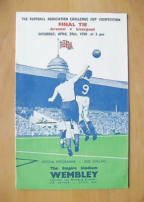 1950 FA Cup Final ARSENAL v LIVERPOOL *Excellent Condition Football Programme*
