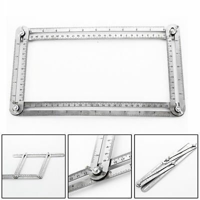 Measuring Instrument Stainless Steel Four-Sided Ruler Angle-izer Template Tool