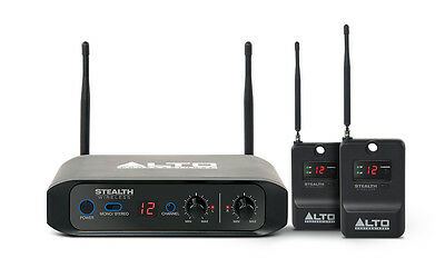 Alto Stealth Wireless Stereo System for Powered Active DJ Loudspeakers Speakers