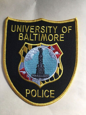 University Of  Baltimore  Maryland Police  Shoulder  Patch