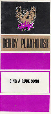 Sing A Rude Song Derby Music Halls Musical Caryl Brahms 1970s Theatre Programme