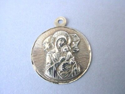 18k YELLOW GOLD VIRGIN MARY & CHILD CHARM PENDANT ~ 2.9 Grams USE OR SCRAP