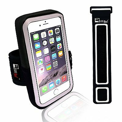 Premium Running Workout Armband for iPhone 6/6s/5 Samsung Galaxy S7/S6/S5 BLACK