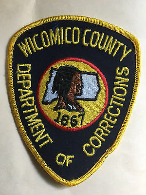 Wicomico County  Maryland Dept Of Corrections  Shoulder Patch