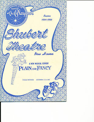 """World Premiere Playbill Barbara Cook """"Plain and Fancy"""" 1954 New Haven"""