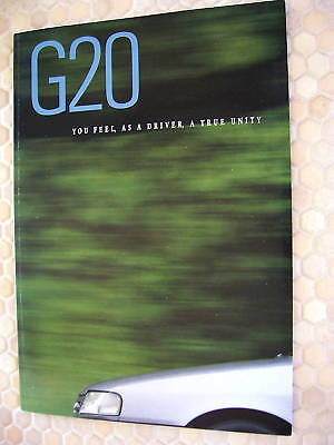 Infiniti Official G20 Prestige Sales Brochure 1991 Large Usa Edition