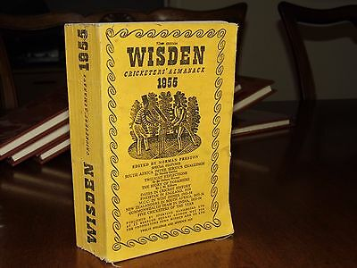 SPECIAL OFFER:Wisden Cricketers' Almanack 1955 Linen Covers GOOD condition