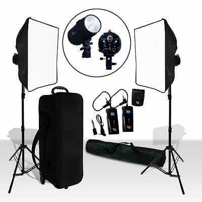 "Photo Studio Flash Lighting Kit Photography 86"" Light Stand 400W Strobe Light"