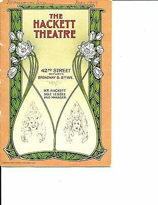 """Theatre Program Grace George """"A Womans's Way"""" 1909 NYC"""