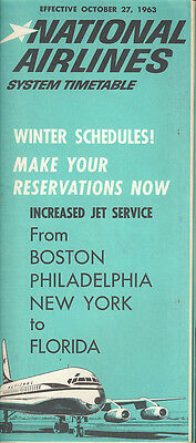 National Airlines system timetable 10/27/63 [5023]
