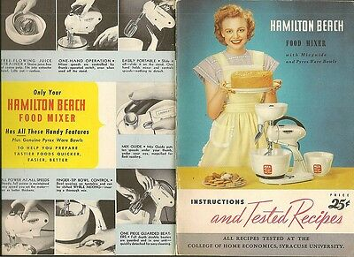 Hamilton Beach 1948 Recipe Booklet 50 pages 6x8-1/2 in