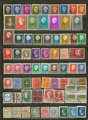 Netherlands 67 Old Used Stamps