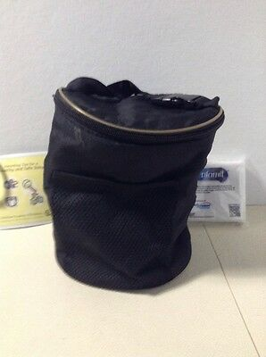 Baby Bottle Bag Black Insulated Warm Cold