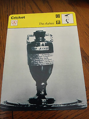 CRICKET - THE ASHES / URN / HUNDRED YEARS WAR - Sportscaster Photo Fact Card