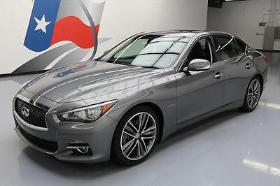 2014 Infiniti Q50 Hybrid Premium Sedan 4-Door 2014 INFINITI Q50 PREM HYBRID SUNROOF NAV REAR CAM 38K #691784 Texas Direct Auto