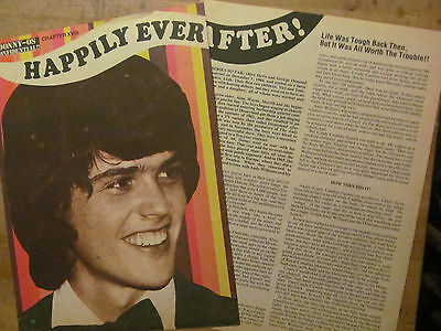 Donny Osmond, Osmonds Brothers, Two Page Vintage Clipping