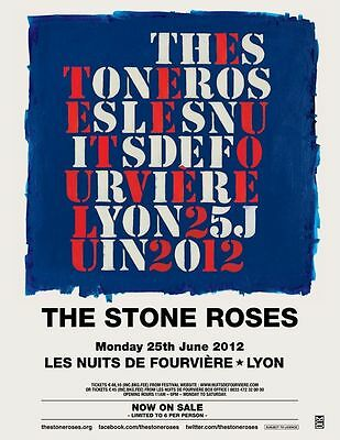 The Stone Roses concert poster print A4 Size