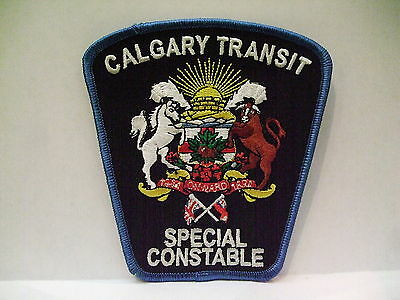 police patch  CALGARY TRANSIT SPECIAL CONSTABLE ALBERTA CANADA OLD STYLE