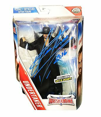 Wwe The Undertaker Hand Signed Autographed Mattel Toy Action Figure With Coa