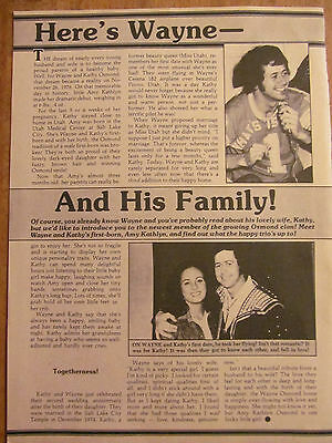 Wayne Osmond, Osmonds, Brothers, Full Page Vintage Clipping